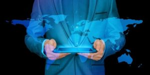 Businessman Internet Continents  - geralt / Pixabay